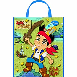 Jake and The Neverland Pirates Deluxe Favor Bag, 13 x 11""