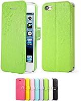 Mulbess Apple iPhone 5C DearStyles Étui Housse en cuir ultra-slim pour iPhone 5C Couleur Ice Vert