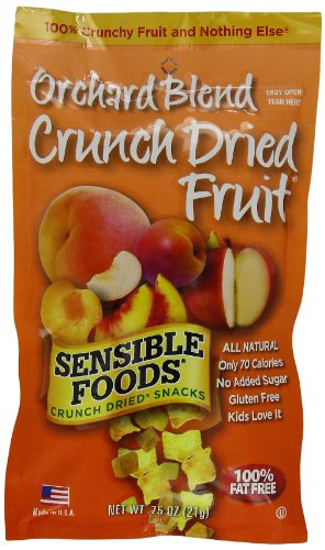 Sensible Foods Crunch Dried Snacks, Orchard Blend, 0.75-Ounce Pouches (Pack of 24)