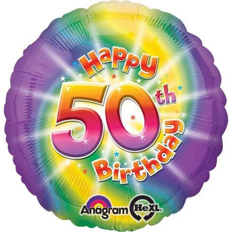 "18"" Happy 50th Birthday Hx"
