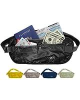 Travel Money Belt: Undercover Waist Stash, Passport Holder Pouch, Credit Cards Wallet