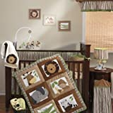 Bedtime Originals Baby Zoo 4-Piece Baby Crib Bedding Set - Chocolate