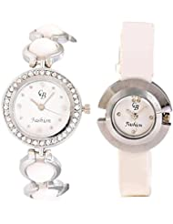 CB Fashion Combo Of Analog Multicolour Dial Women's Watch (RW155)