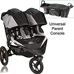 Baby Jogger Summit X3 Double Jogging Stroller with Parent Console - Black Gray by BaJogger