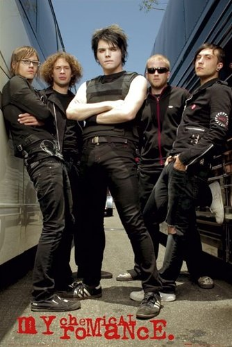 My Chemical Romance Group Shot Rock Music Poster 24 x 36 inches