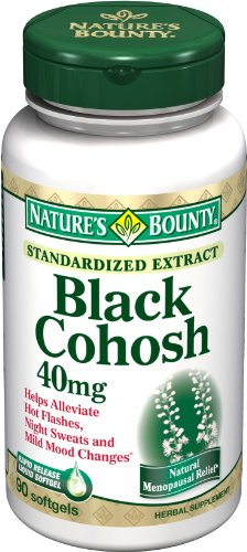 Nature's Bounty Black Cohosh, 40mg, Standardized Extract, 90 Softgels (Pack of 2)