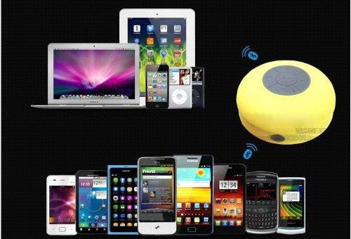 Mini étanche sans fil Bluetooth stéréo douche parleurs portables avec ventouse pour tous les périphériques avec capacité Bluetooth avec micro intégré puissant haut-parleur mains libres Rose