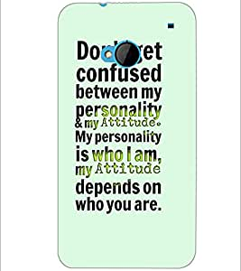 PrintDhaba Quote D-4903 Back Case Cover for HTC ONE M7 (Multi-Coloured)