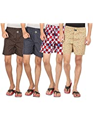Joven Assorted Printed Cotton Boxer Pack Of 4 - B01EY0YMIW