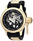 Invicta 17266 Men's Russian Diver Mechanical Black Skeleton Dial Rubber & Steel Strap Watch