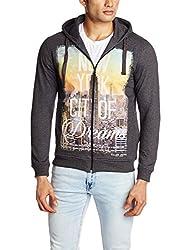 Killer Men's Cotton Sweatshirt (8907201831834_KT-2205CROSBY FSHDD BK_X-Large_Grey)