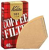Kalita コーヒーフィルター 101ロシ ブラウン 1?2人用 40枚入り 「10パックセット」
