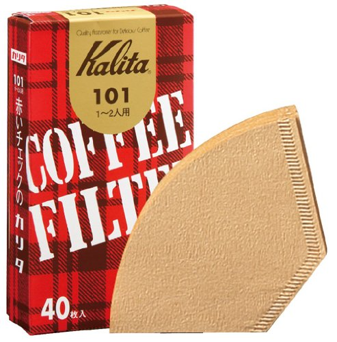 """40 pieces of 1-2 people for Kalita coffee filter 101 rosiglitazone Brown """"10 Pack Set"""" (japan import)"""