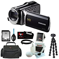 Samsung HMX-F90 5MP HD Camcorder in Black with 32GB Deluxe Accessory Kit from Samsung