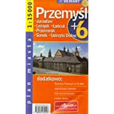Poland City Map Przemysl + 6 Other Cities: Jaroslaw, Lezajsk, Lancut, Przeworsk, Sanok, Ustrzyki Dolne