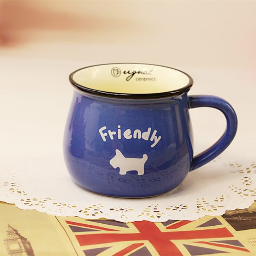 LightInTheBox The Simple Classic New Cow Cup Multi-Color Optional Individuality Zakka Ceramic Mug Cup Coffee Cup