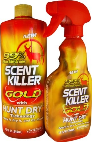 Wildlife Research Scent Killer Gold Spray Combo Pack, 44-
