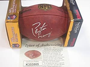 Peyton Manning Denver Broncos Signed Autographed Football Authentic Certified Coa