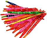 Microtimes 100 PCS Toy Rocket Balloons,Giant Rocket balloons refill with Pair of Pumps SET, Party Favor Supplies Long Balloon Flying Whistling(colors may vary)