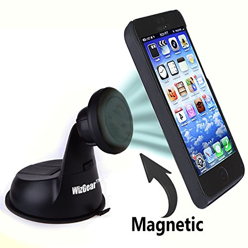 Car Mount, WizGear Universal Magnetic Car Mount Holder, Windshield Mount and Dashboard Mount Holder for Cell Phones with Fast Swift-snap Technology