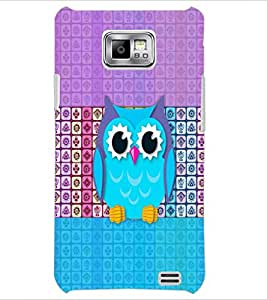 PrintDhaba Owl D-5893 Back Case Cover for SAMSUNG GALAXY S2 (Multi-Coloured)