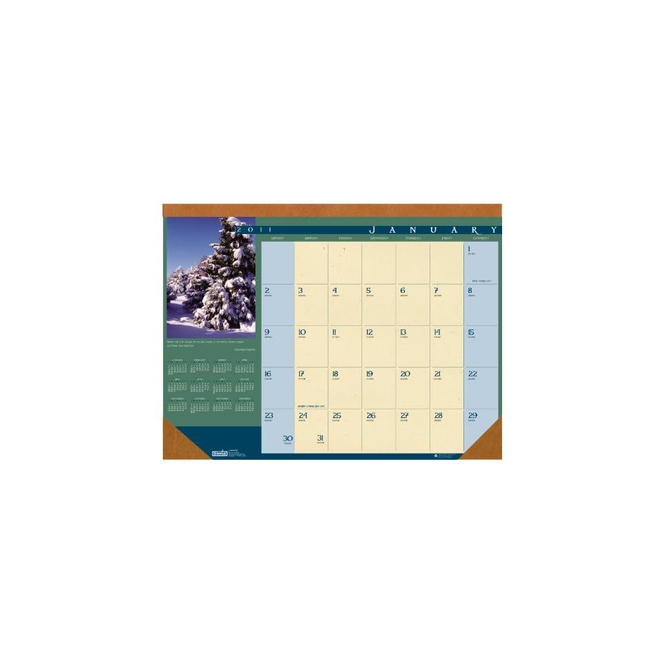 House of Doolittle 168 Landscapes Photographic Monthly Desk Pad Calendar, 22 x 17, 2016