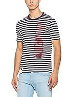 Love Moschino Camiseta Manga Corta (Blanco / Azul Marino)