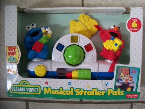Fisher-Price Sesame Street Musical Stroller Pals [1998] (Cookie Monster Fisher Price compare prices)