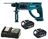 Makita 18V LXT BHR202 BHR202Z BHR202Rfe Sds Hammer Drill, 2 X BL1830 Batteries And DC18RC Charger