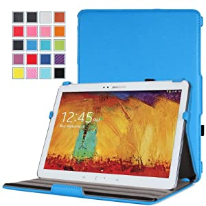 MoKo Samsung Galaxy Note 10.1 2014 Edition Case - Slim-Fit Multi-angle Stand Case for Note 10.1 Inch 2014 Edition Tablet, BLUE (With Smart Cover Auto Wake / Sleep)