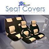 2007 2008 2009 2010 Honda Fit Universal Size (Not Custom Make) Car Seat Covers Set Synthetic Leather