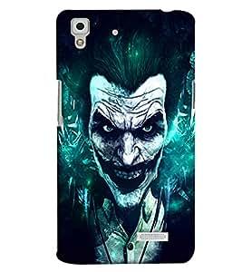 Clarks Joker Effect Hard Plastic Printed Back Cover/Case For Oppo R7