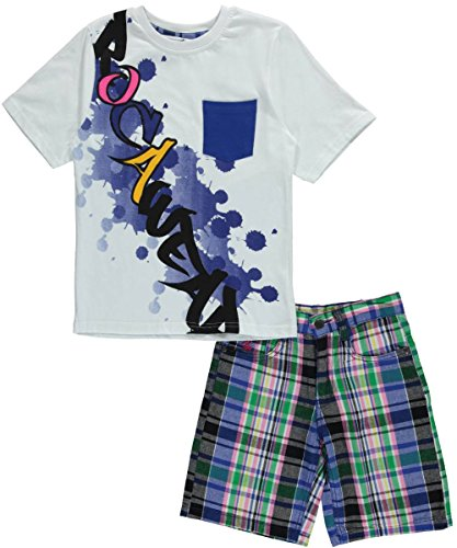 "Rocawear Big Boys' ""Drip Rag"" 2-Piece Outfit - white, 12"