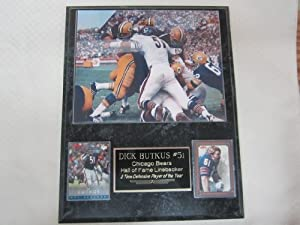 Dick Butkus Chicago Bears vs Green Bay Packers 2 Card Collector Plaque w 8x10 photo... by J & C Baseball Clubhouse