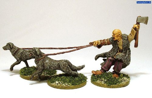 Pack Of Celtic Warhound Miniatures