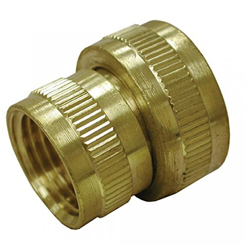 Jones-Stephens-Corporation-G20032-Lead-Free-34-x-34-Brass-Garden-Hose-Fitting-Female-Hose-To-Female-Pipe-Swivel-Small