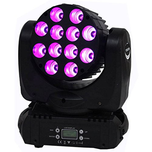 Yiscortm Stage Lighting Led Par Light Spot Beam 120W 12Leds Rgbw (4In1) Dmx512 Moving Head For Home Garden Xmas Christmas Birthday Party Dj Disco Club Effect