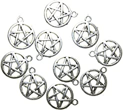 AvBeads PentaclePentagram Charms Antique Silver 20mm x 17mm 10 Pieces