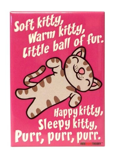 The Big Bang Theory Soft Kitty Pink Magnet - 1 Pc. (Big Bang Theory Fridge Magnet compare prices)