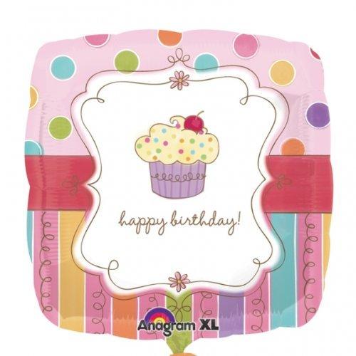 "Anagram International Sweet Stuff Cupcake Balloon, 18"", Multicolor"