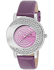 Swisstone NOVA204-PURP Purple Dial Purple Strap Wrist Watch For Women/Girls