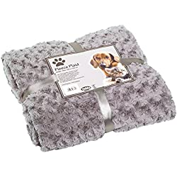 Nobby Kuscheldecke Fleece Plaid Super Soft, 100 x 150 cm, hellgrau