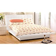 """Bed Cover With Pillow Cover Floral Double Bed Spread Double 100% Cotton 90X108"""""""