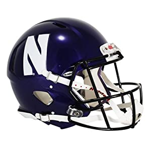 Northwestern Wildcats Authentic Revolution Speed Football Helmet by Riddell