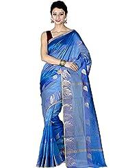 Chandrakala Women's Chiffon Saree (8139_Blue)