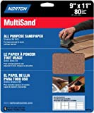 Norton 47740 Multisand Sandpaper 80 Grit, 9-Inch x 11-Inch, 5-Pack