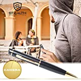 32GB HD Spy Pen Camera, 100 Min Video Audio Recorder, FREE 32GB Memory Card, 5 Extra Ink Refills, Professional Secret Mini Digital Security Pencil With Tiny Undetectable Cam For Hidden Covert Spying