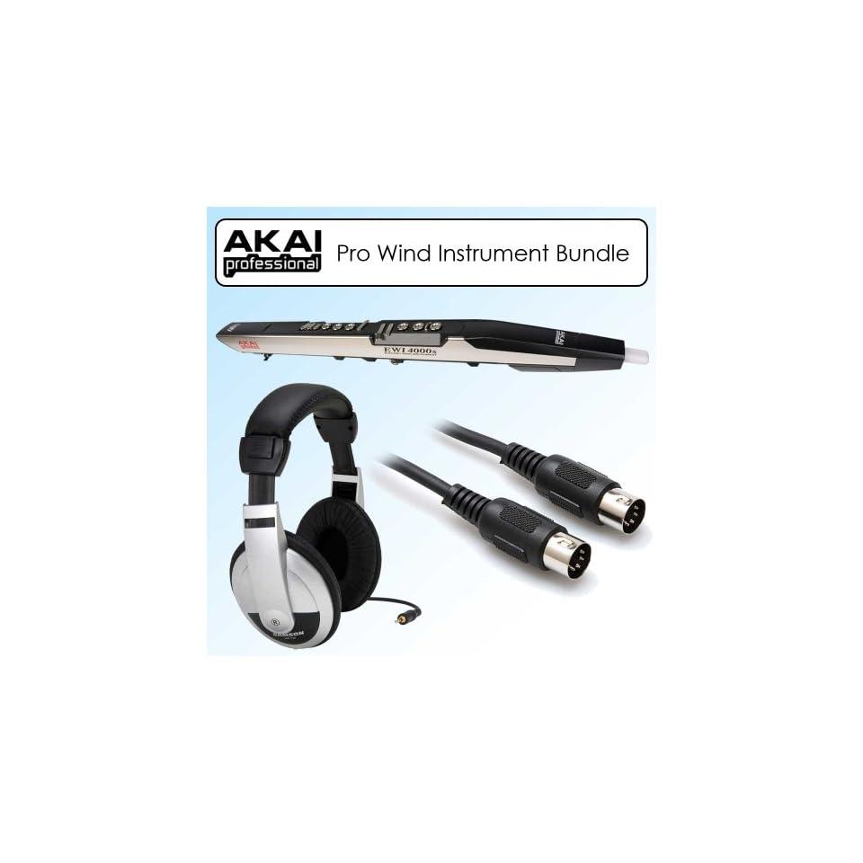 Akai EWI4000S MIDI Wind Instrument + Samson HP10 Headphones