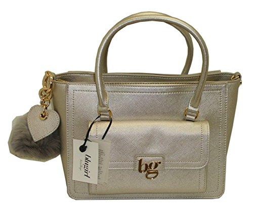 Borsa BAULETTO con tracolla due manici BLUGIRL BG 813001 women bag ARGENTO