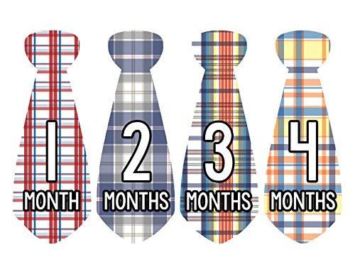 Months in Motion 731 Monthly Baby Stickers Necktie Tie Baby Boy Months 1-12 - 1